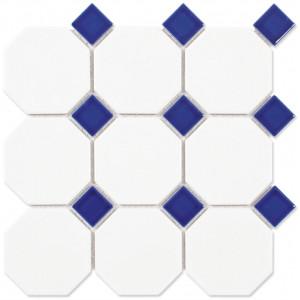 Octagon Vit m. blå passbit...