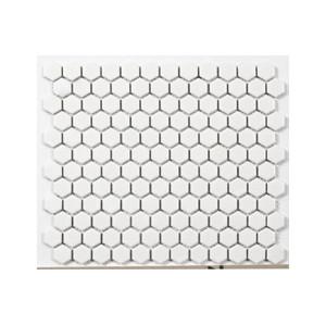Mosaik Hexa Vit Blank 2,3x2,5