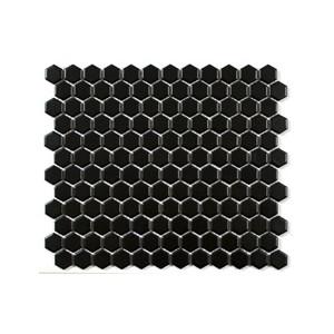 Mosaik Hexa Svart Matt 2,3x2,5