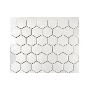 Mosaik Hexagon Vit Matt...
