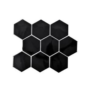 Mosaik Hexa Black Gloss 9,5x11