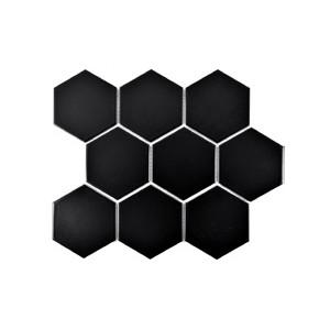 Mosaik Hexa Black Matt 9,5x11