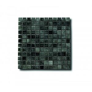 Glasmosaik Svart 2.5x2.5