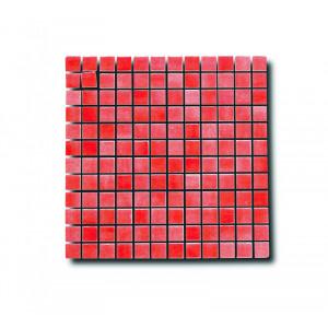 Glasmosaik Röd 2.5x2.5