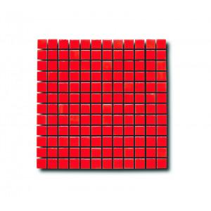 Glasmosaik Klarröd 2.5x2.5