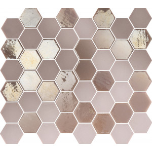Mosaik Sixties Hexa Pink 5x4,3