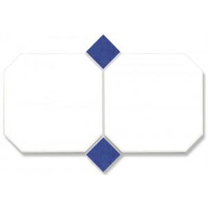 Octagon Vit med blå passbit...