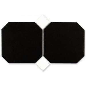 Octagon Svart 15x15