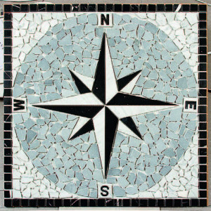 Kompassros Nero 66x66