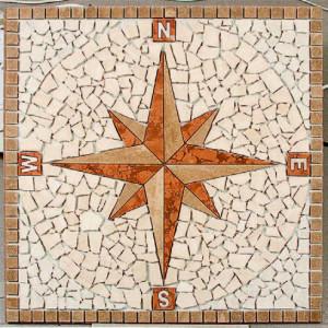 Kompassros Noce 66x66