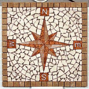 Kompassros Noce 40x40