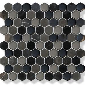 Mosaik Hexagon Black Mix 3x3