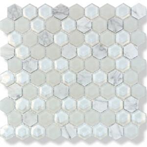 Mosaik Hexagon White Mix 3x3
